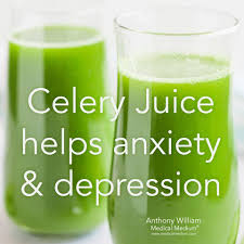 celery juice reduce depression and anxiety